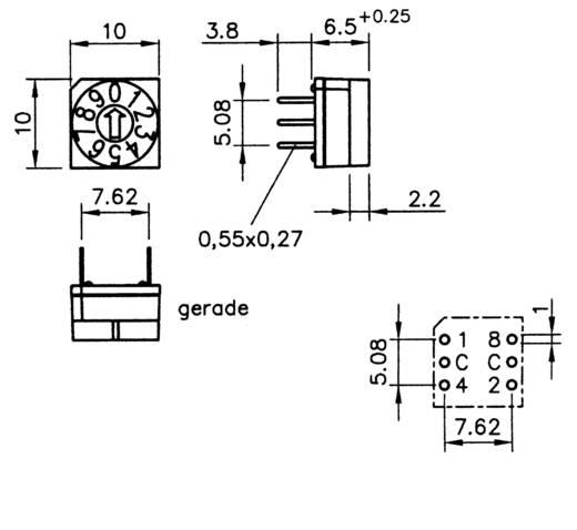 Kodierschalter Hexadezimal 0-9/A-F Schaltpositionen 16 Hartmann HEX. CODIERSCHALTER 1 St.