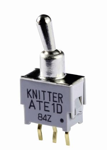 Knitter-Switch ATE 2G Kippschalter 48 V DC/AC 0.05 A 2 x (Ein)/Aus/(Ein) tastend/0/tastend 1 St.