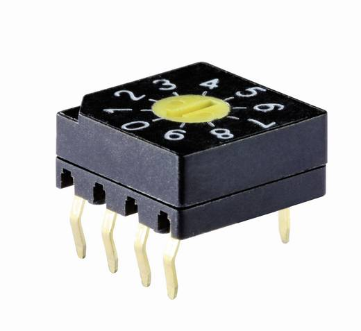 Kodierschalter Hexadezimal, Inverse 0-9/A-F Schaltpositionen 16 Knitter-Switch DRS 3116 1 St.