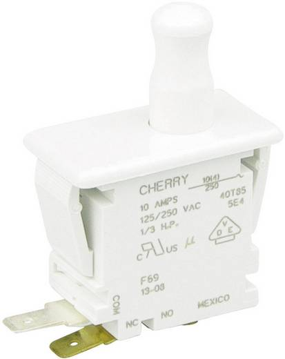 Drucktaster 250 V/AC 10 A 1 x Ein/(Ein) Cherry Switches F69-65A tastend 1 St.