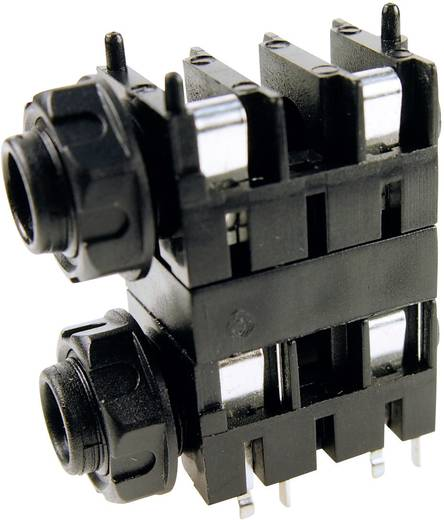 Klinken-Steckverbinder 6.35 mm Buchse, Einbau horizontal Polzahl: 2 Mono Schwarz Cliff FCR1120 1 St.