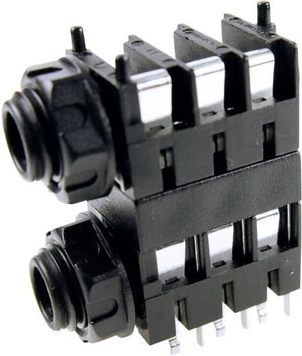 Klinken-Steckverbinder 6.35 mm Buchse, Einbau horizontal Polzahl: 3 Stereo Blau Cliff FCR1124 1 St.
