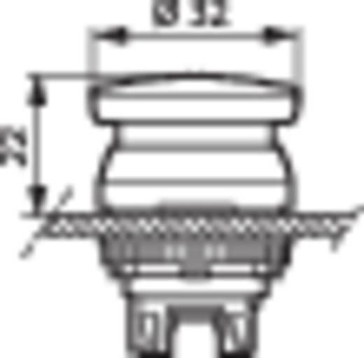 Pilztaster Frontring Kunststoff, verchromt Gelb BACO L21AL40 1 St.
