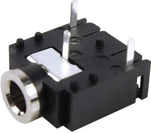 Klinken-Steckverbinder 3.5 mm Buchse, Einbau horizontal Polzahl: 3 Stereo Schwarz Cliff FC68131 1 St.