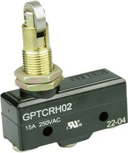 Microrupteur Cherry Switches GPTCRH02 250 V/AC 15 A 1 x On/(On) momentané 1 pc(s)
