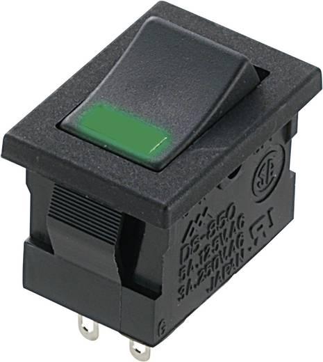 Wippschalter 250 V/AC 3 A 1 x Aus/Ein Miyama DS-850-K-F1-LG rastend 1 St.