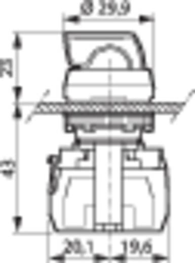 Wahltaste Frontring Kunststoff, verchromt Schwarz 1 x 90 ° BACO L21KE03B 1 St.