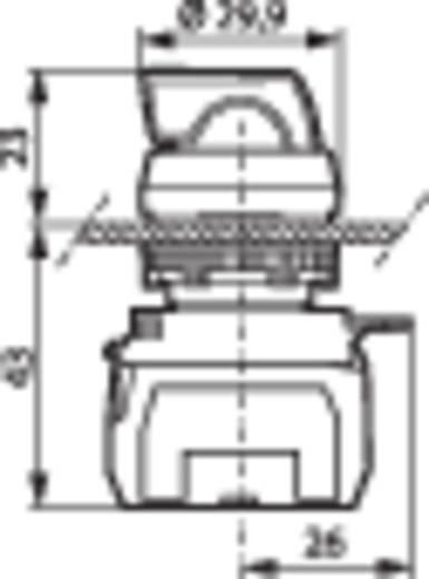 Wahltaste Frontring Kunststoff, verchromt Rot 1 x 45 ° BACO L21KG10C 1 St.