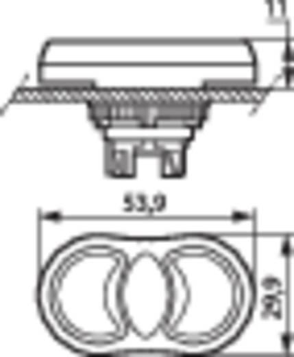 Doppeldrucktaster Frontring Kunststoff, verchromt Grün, Rot BACO L61QH21 1 St.