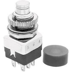 Image of APEM 10445A Drucktaster 220 V/AC 2 A 2 x Ein/(Aus) tastend 1 St.