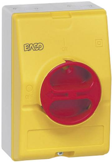 Lasttrennschalter 25 A 1 x 90 ° Gelb, Rot BACO 172061 1 St.