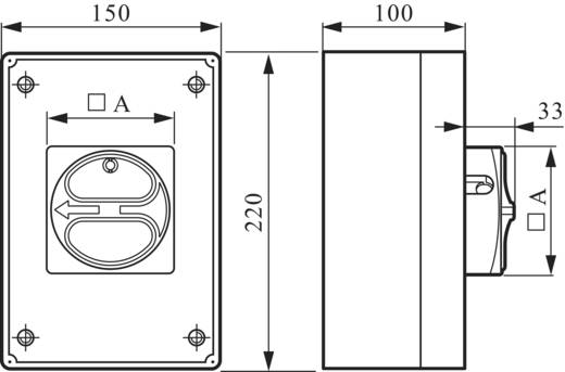 Lasttrennschalter 32 A 1 x 90 ° Gelb, Rot BACO 172161 1 St.