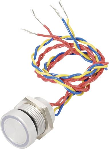 APEM PBAR1AF0000A0B Piezotaster 24 V DC/AC 0.2 A 1 x Aus/(Ein) IP69K tastend 1 St.