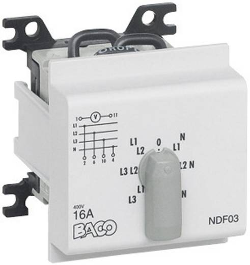 BACO NDF03 Voltmeter Umschalter 16 A 360 ° Grau 1 St.
