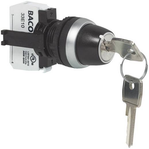 Schlüsselschalter Frontring Kunststoff, verchromt 1 x 45 ° BACO L21LA00G 1 St.