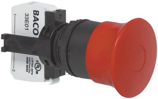 Not-Aus-Schalter Frontring Kunststoff, Schwarz Rot Zugentriegelung BACO L22DD01A 1 St.