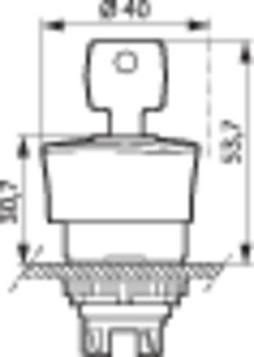 Pilztaster Frontring Kunststoff, Schwarz Rot Schlüsselentriegelung BACO L22GM01 1 St.