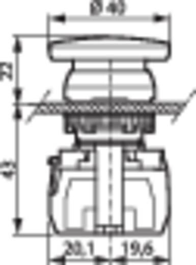 Not-Aus-Schalter Frontring Kunststoff, verchromt Rot BACO L21AD01C 1 St.