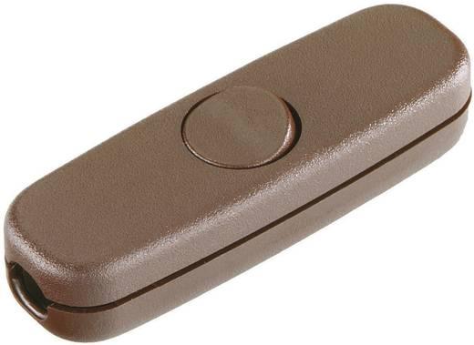 Schnurschalter Braun 1 x Aus/Ein 3 A interBär 5055-009.01 1 St.