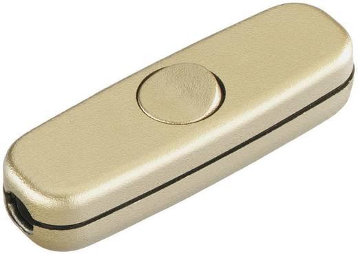 Schnurschalter Gold 1 x Aus/Ein 3 A interBär 5055-010.01 1 St.