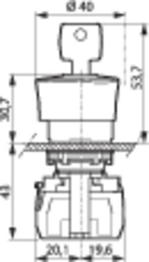 Not-Aus-Schalter Frontring Kunststoff, Schwarz Rot Schlüsselentriegelung BACO L22GM01E 1 St.