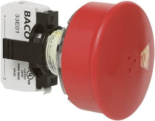 Not-Aus-Schalter Frontring Kunststoff, Schwarz, mit Statusanzeige Rot Zugentriegelung BACO L22DU01G 1 St.