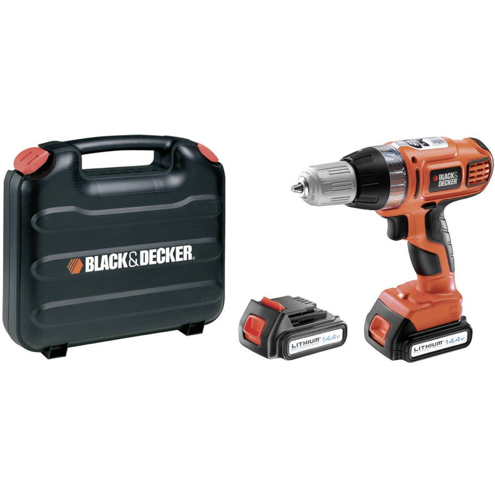 black decker asl146kb cordless drill 14 4 v 1 3 ah li ion spare battery case from. Black Bedroom Furniture Sets. Home Design Ideas