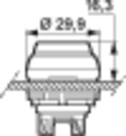Drucktaster Frontring Kunststoff, verchromt Rot BACO L21AK10 1 St.