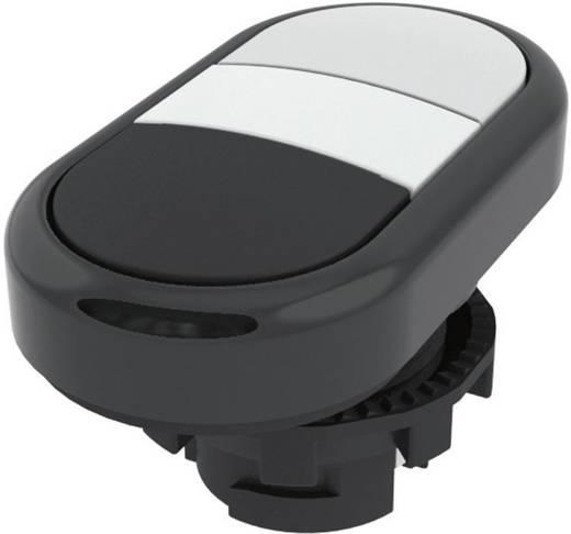 Doppeldrucktaster Betätiger flach Weiß, Schwarz Pizzato Elettrica E21PDRL10221 1 St.