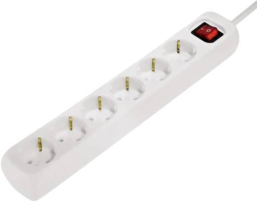 Hama 00030530 Steckdosenleiste mit Schalter 6fach Weiß Schutzkontakt