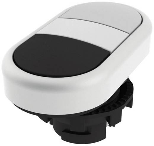 Doppeldrucktaster Betätiger flach Weiß, Schwarz Pizzato Elettrica E21PDRL90221 1 St.