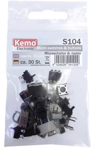 Mikroschalter-Sortiment Kemo S104 tastend 30 Teile