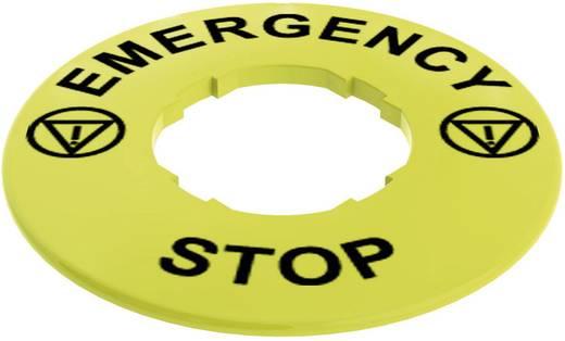 Bezeichnungsschild EMERGENCY STOP Pizzato Elettrica VETF32A5102 1 St.