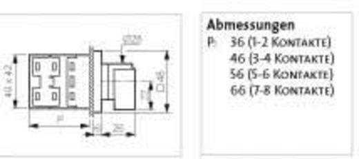 Umschalter 16 A 2 x 30 ° Grau, Schwarz BACO NC02GQ1 1 St.