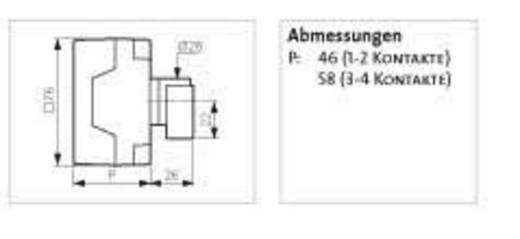 Lasttrennschalter 16 A 1 x 90 ° Grau, Schwarz BACO NB02AGQ 1 St.