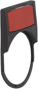 Porte-étiquette BACO 100643 (l x h) 30 mm x 69 mm noir 1 pc(s)