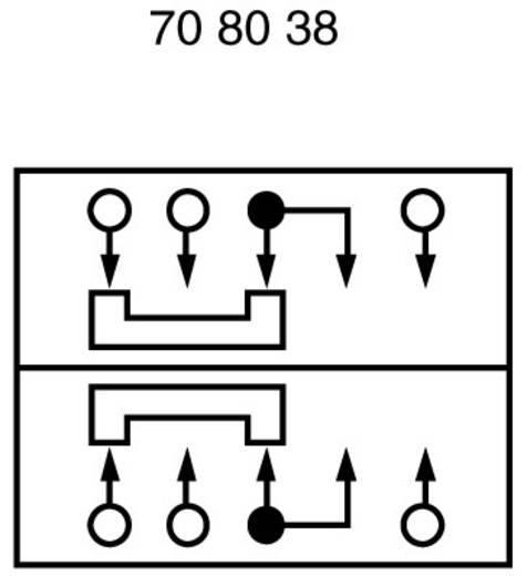 Schiebeschalter 50 V/DC 3 A 2 x Ein/Ein/Ein 1 St.