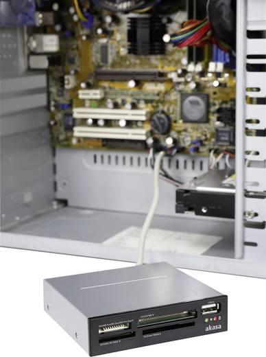 Einbau-Speicherkartenleser 8.9 cm (3.5 Zoll) Akasa AK-ICR-03USBV2 Schwarz