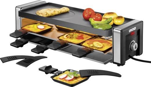 Raclette Unold Delice mit Grillstein, mit manueller Temperatureinstellung Schwarz/Silber