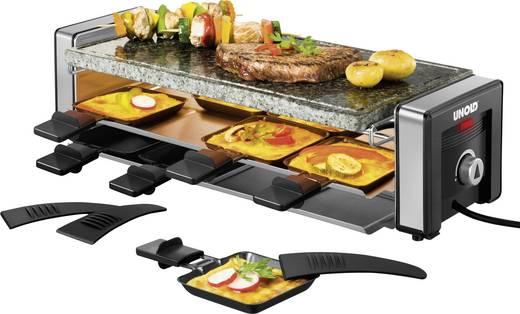 Unold Delice Raclette mit Grillstein, mit manueller Temperatureinstellung Schwarz/Silber