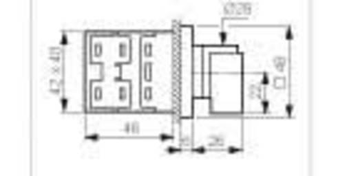 BACO NY31AQ1 Voltmeter Umschalter 16 A 360 ° Grau, Schwarz 1 St.