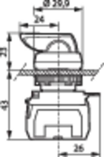 Wahltaste Frontring Kunststoff, verchromt Schwarz 2 x 45 ° BACO L21MR03A 1 St.