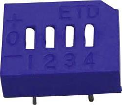 Image of DIP-Schalter Polzahl 10 Tri-State ETD 110E 10PIN 1 St.