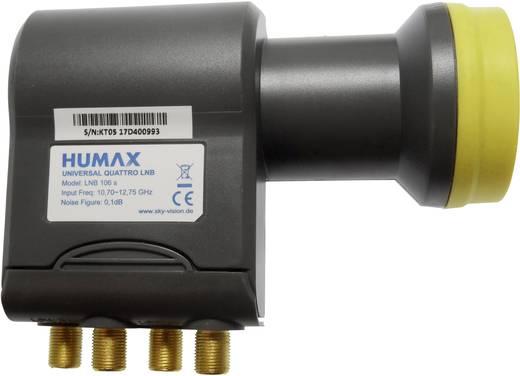 Quattro-LNB Humax 106s-B Feedaufnahme: 40 mm vergoldete Anschlüsse