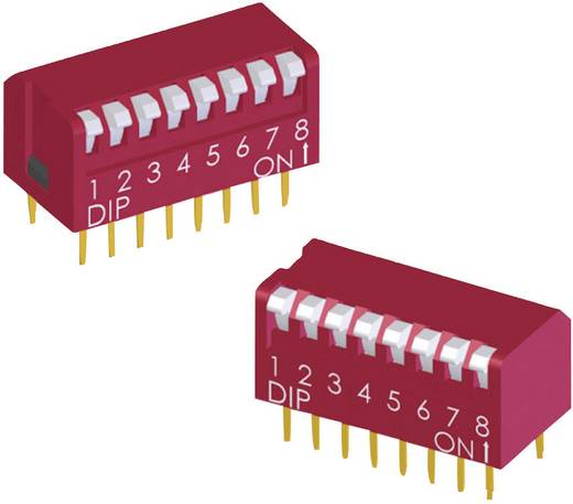 DIP-Schalter Polzahl 4 Piano-Type Diptronics DPL-04-V 234 St.