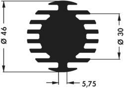 Dissipateur thermique pour LED Fischer Elektronik 10021847 (Ø x h) 46 mm x 15 mm R(th) 4 K/W