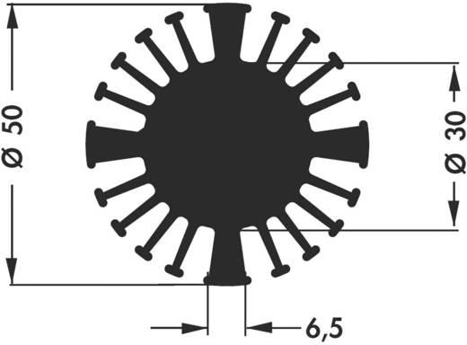 LED-Kühlkörper 2.3 K/W (Ø x H) 50 mm x 25 mm Fischer Elektronik SK 602 25 SA