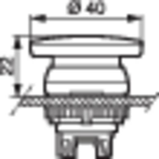 Pilztaster Frontring Kunststoff, verchromt Rot BACO L21AD01 1 St.