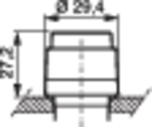 Rückstelltaste Frontring Kunststoff, verchromt Schwarz BACO L21HA03 1 St.