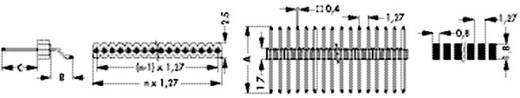 Stiftleiste (Präzision) Anzahl Reihen: 1 Polzahl je Reihe: 20 Fischer Elektronik SLV W 3 SMD 048 20 G 1 St.